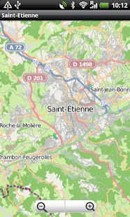 Saint-Etienne Street Map - screenshot