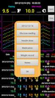 Screenshot of Diabetes Diary Lite