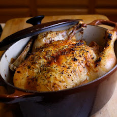 Whole Roasted Garlic Lemon Chicken