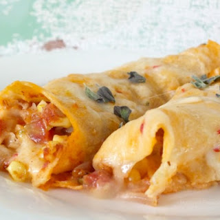 Quick and Easy Chicken Enchiladas in Homemade Cream Sauce