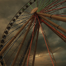 Ferris wheel by Teri Shearer-Buczkowske - Novices Only Objects & Still Life (  )