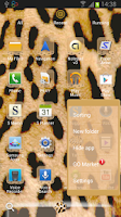 Screenshot of GO Launcher EX Leopard Theme