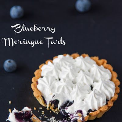 Blueberry Meringue Tarts