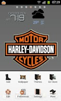 Screenshot of HarleyDavidson GoLauncherTheme