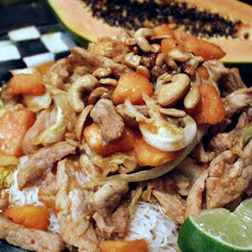 Stir-Crazy Pork and Papaya