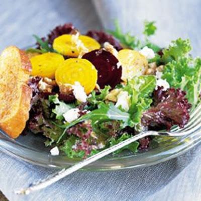 Beet Salad with Chèvre and Walnuts