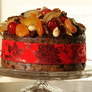Glazed Fruit Christmas Cake