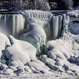 Frozen Niagara Falls State Park by John Witt - City,  Street & Park  City Parks ( american falls, froszen, winter, ice, waterfall )