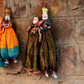 Royal Family by Prasanta Das - Artistic Objects Toys ( family, royal, rajasthan, toys, soft )