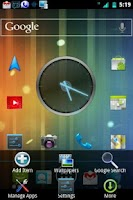 Screenshot of ICS 3D Mint CM7 Theme