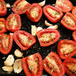 Slow-roasted Tomatoes With Whole Garlic Cloves