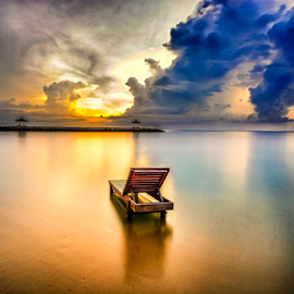 looking to the future by Shenz Senichi Kunisada - Landscapes Waterscapes ( Chair, Chairs, Sitting )