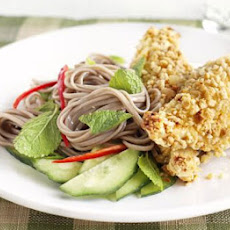 Nutty Chicken With Noodle Salad