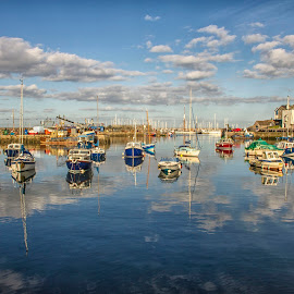 Brixham Harbour by Andy Toby - Transportation Boats