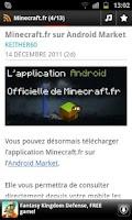 Screenshot of News Minecraft.fr
