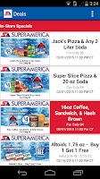 Screenshot of SuperAmerica Deals