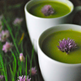 Chilled Pea Soup with Tarragon and Chives