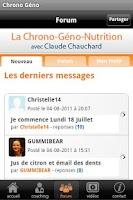 Screenshot of La Chrono Géno Nutrition v0.1