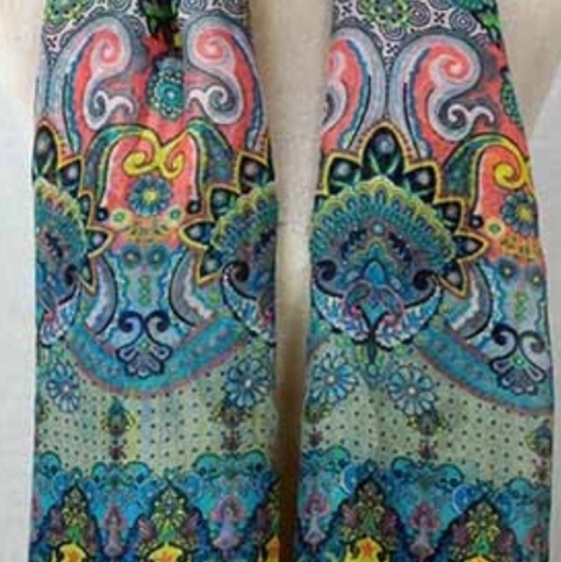 1960's print scarf