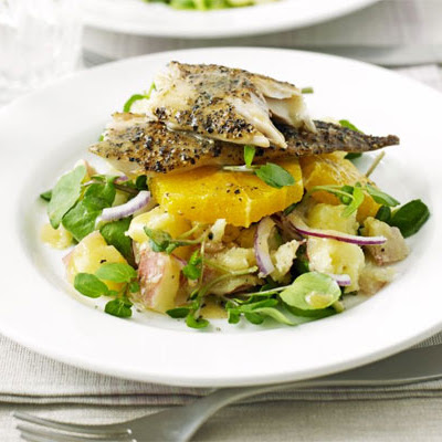 Smoked Mackerel With Orange, Watercress & Potato Salad