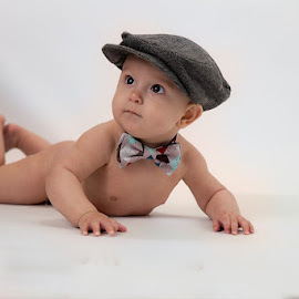 Little Man by Rene Sheppard - Babies & Children Babies ( hats, babies, color, boys, portraits )