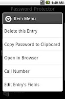 Screenshot of Password Protector