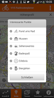 Screenshot of VVS Radroutenplaner