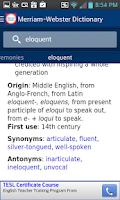 Screenshot of Dictionary - Merriam-Webster
