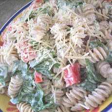 Roasted Red Pepper Caesar Pasta Salad