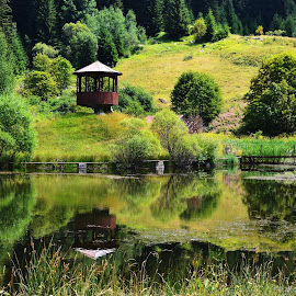 lake   by Gergana Stefanova - Landscapes Travel ( rodopa, mauntain, beautiful, reflections, lake, landscape, bulgaria )
