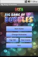 Screenshot of Big Bang of Bubbles