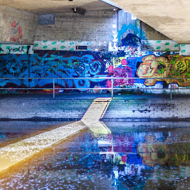 Under The Bridge by Laurent Adien - City,  Street & Park  Neighborhoods