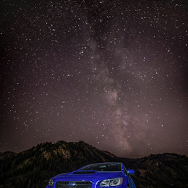 Milky Way by Bill Higginson - Transportation Automobiles ( car, automobiles, cars, stars, nightscapes, nightscape, milky way )