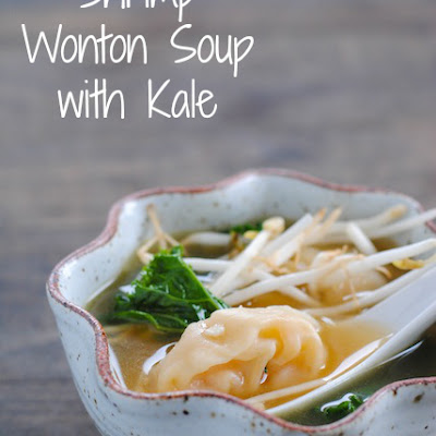 Shrimp Wonton Soup with Kale