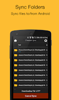 Screenshot of Folder Sync : Folder syncing