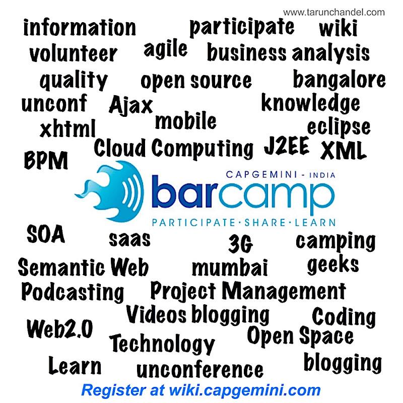 Barcamp Capgemini Tag Cloud, Tarun Chandel Photoblog