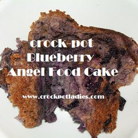 Crock-Pot Blueberry Angel Food Cake