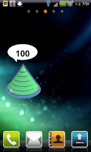 3D cone Battery Widget - screenshot
