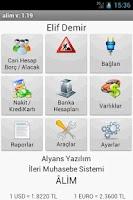 Screenshot of ÂLİM - İleri Muhasebe Sistemi