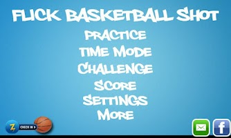Screenshot of Flick Basketball Shot