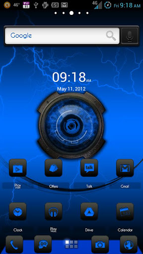 ADW Theme DigitalSoul Blue