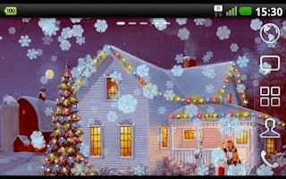 Screenshot of Christmas snow