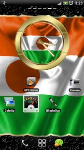 Niger flag clocks - screenshot