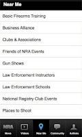 Screenshot of NRA