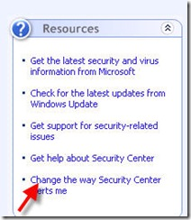 csec thumb Disabling Windows XP Security Alerts Notifications