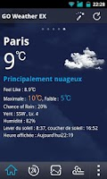 Screenshot of French Language GOWeatherEX