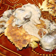 Salmon Patties With Mushroom Sauce