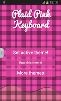Screenshot of Plaid Pink Keyboard