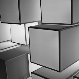 Box's Box! by Hasan Mahmud Tipu - Abstract Patterns ( abstract, blackandwhite, building, patterns, still life )