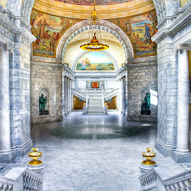Grand Entrance by Dustin Olsen - Buildings & Architecture Public & Historical ( stairs, hdr, murals, capitol, granite )